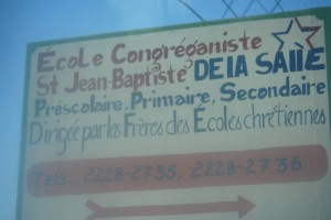 Haiti School sign