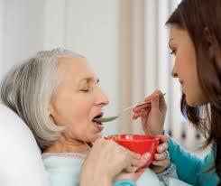 feeding woman