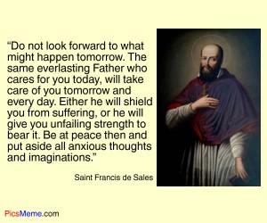 Be at peace by Saint Francis de Sales