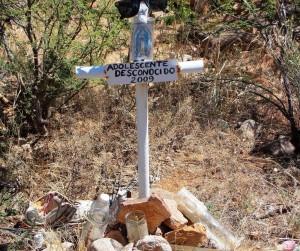 cross in desert