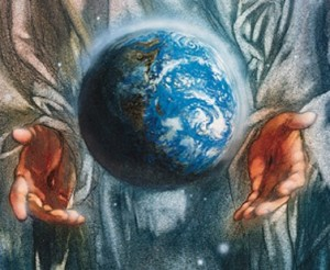 painting-jesus-god-suspending-the-world-between-his-hands